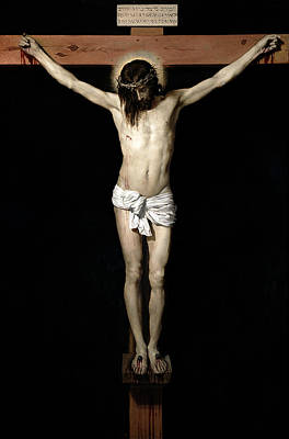 Poster featuring the digital art Crucifixion by Diego Velazquez