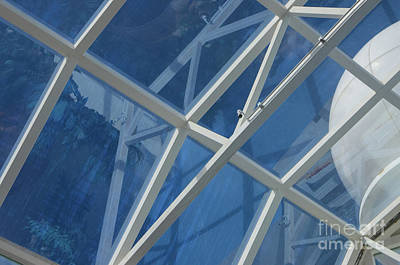 Cruise Ship Abstract Girders And Dome 2 Poster