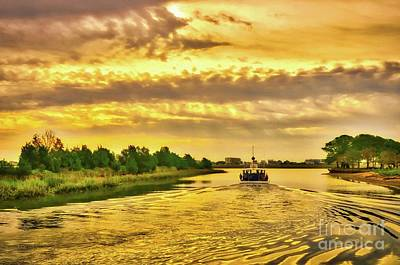 Poster featuring the photograph Cruising Out Of Murrells Inlet by Mel Steinhauer