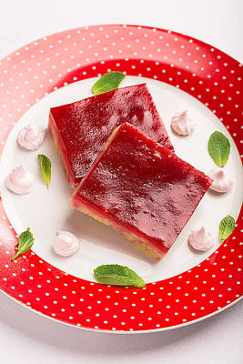 Crumbly Cake With Jam Jelly Prepared From Cranberry Poster by Vadim Goodwill