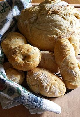 Poster featuring the photograph Crusty Artisan Breads by Deb Martin-Webster