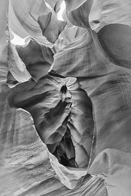 Crying Face - Antelope Canyon Poster