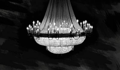 Crystal Chandelier Poster