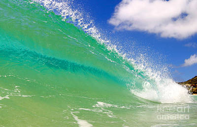 Crystal Clear Wave Poster by Paul Topp