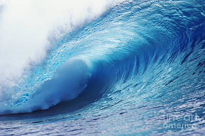 Crystal Ice Blue Wave Poster by Ali ONeal - Printscapes