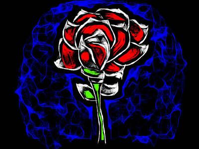 Crystal Illuminating Rose Poster