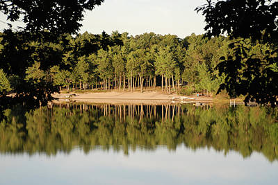 Poster featuring the photograph Crystal Lake In Whitehall Mi by Ferrel Cordle