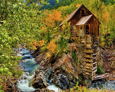 Crystal Mill Fall Colors Poster