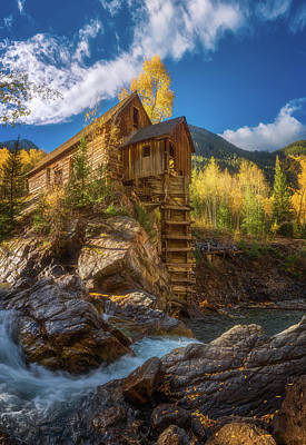 Crystal Mill Morning Poster by Darren White