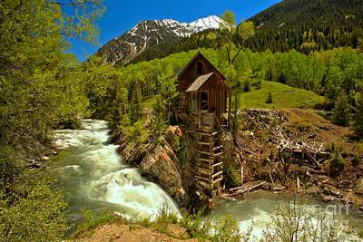 Crystal Mill Summer Landscape Poster by Adam Jewell