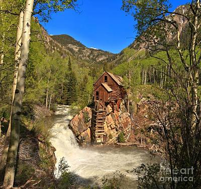 Crystal Mill Through The Trees Poster by Adam Jewell