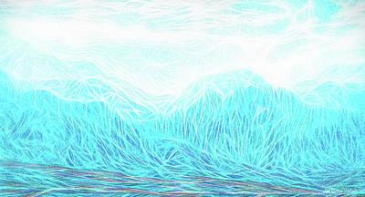 Crystalline Mountain Light Poster