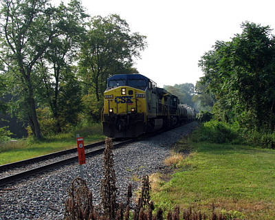 Csx 425 Coming Down The Tracks Poster by George Jones