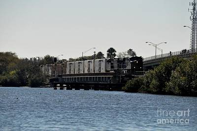Poster featuring the photograph Csx Over The Alafia by John Black