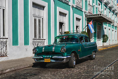 Poster featuring the photograph Cuba Cars II by Juergen Klust