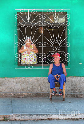Poster featuring the photograph Cuba Husband And Wife by Craig J Satterlee