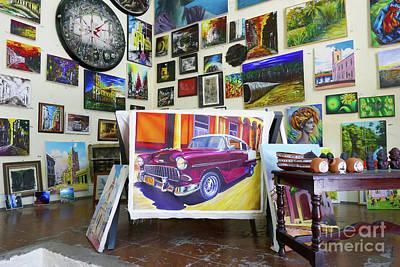 Cuba One Artists Studio Poster by Wayne Moran