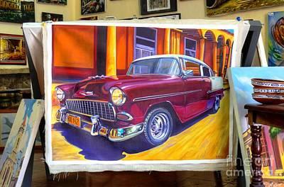 Cuban Art Cars Poster by Wayne Moran