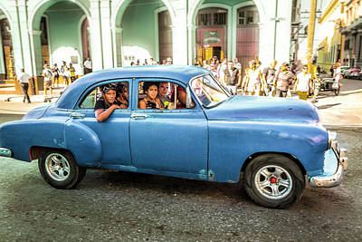 Poster featuring the photograph Cuban Taxi by Lou Novick