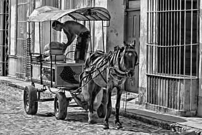 Cubano Taxi Poster by Dawn Currie