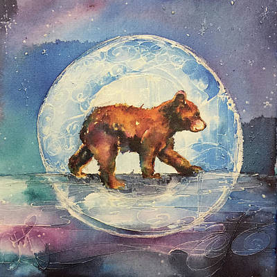 Poster featuring the painting Cubbie Bear by Christy Freeman