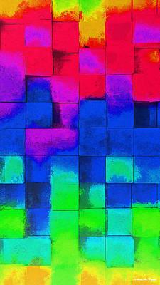 Cubism 4 - Da Poster by Leonardo Digenio