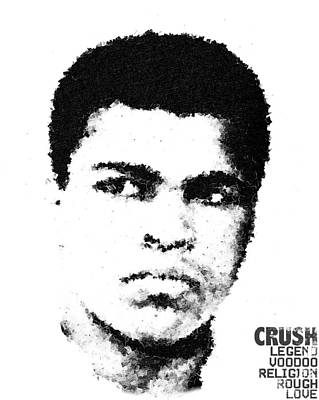 Cubist Muhammad Ali Poster by Andrea Barbieri