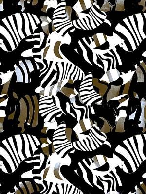 Cubist Zebra Texture Poster by Samet Sevincer