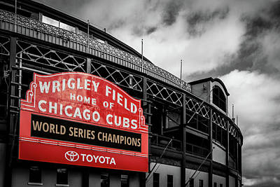 Cubs Win Cubs Win Poster by Mike Burgquist