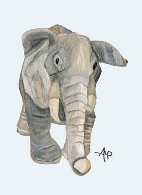 Cuddly Elephant Poster