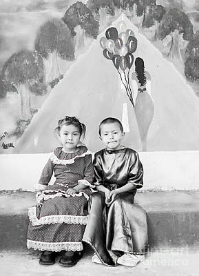Poster featuring the photograph Cuenca Kids 896 by Al Bourassa