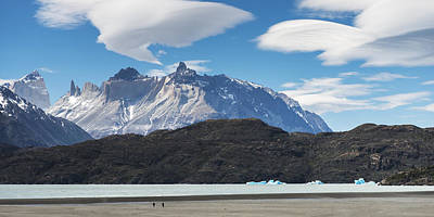 Cuernos Del Paine From Lake Pehoe Poster