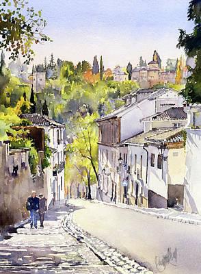 Cuesta Chapiz Granada Poster