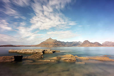 Poster featuring the photograph Cuillin Mountain Range by Grant Glendinning