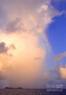 Culebra Rain Cloud And Rainbow Poster by Thomas R Fletcher