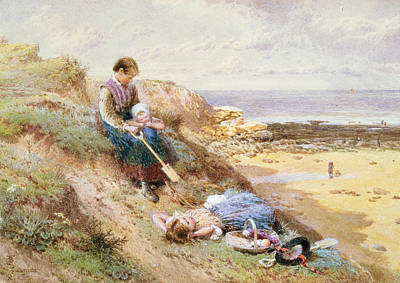 Cullercoats Poster by Myles Birket Foster