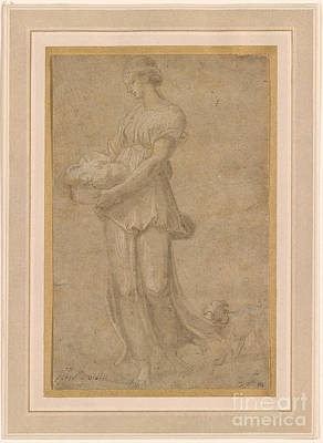 Cumaean Sibyl With A Dog Poster by Celestial Images