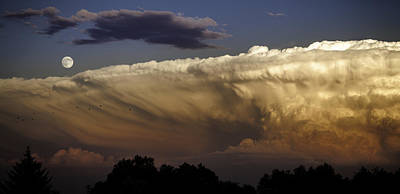 Cumulonimbus At Sunset Poster by Jason Moynihan