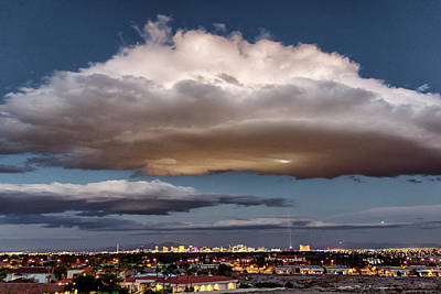 Poster featuring the photograph Cumulus Las Vegas by Michael Rogers