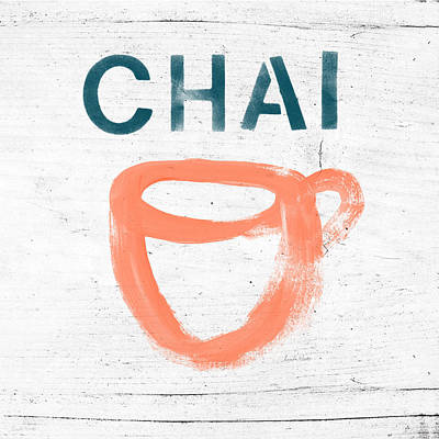 Cup Of Chai- Art By Linda Woods Poster by Linda Woods