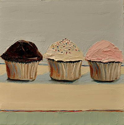 Poster featuring the painting Cupcake by Lindsay Frost
