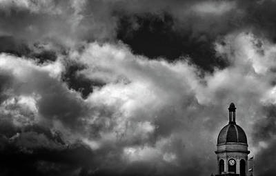 Cupola And Sky In Black And White Poster