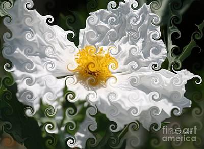 Curlicue Fantasy Bloom Poster