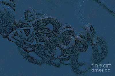 Poster featuring the digital art Curly Swirly by Kim Henderson