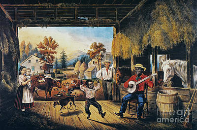 Currier & Ives: Barn Dance Poster by Granger