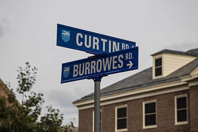 Curtin And Burrowes Penn State  Poster by John McGraw