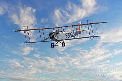 Curtiss Jn-4h Biplane Poster by Jerry Fornarotto