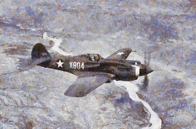 Curtiss P-40 In Flight Wwii Poster