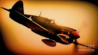 Curtiss P-40 Warhawk Angry Tiger Poster