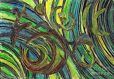Curved Lines 4 Poster